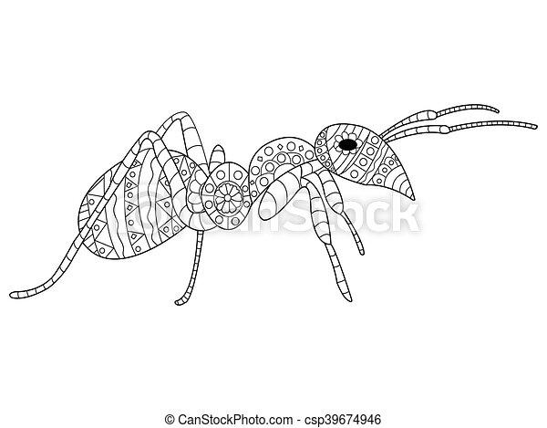 Großartig Ameisen Färbung Blatt Zeitgenössisch ...
