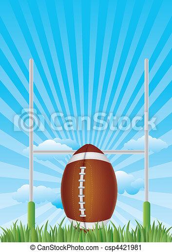 america football with blue sky - csp4421981
