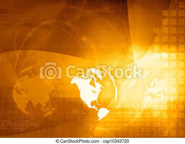 America map technology style - csp10343720