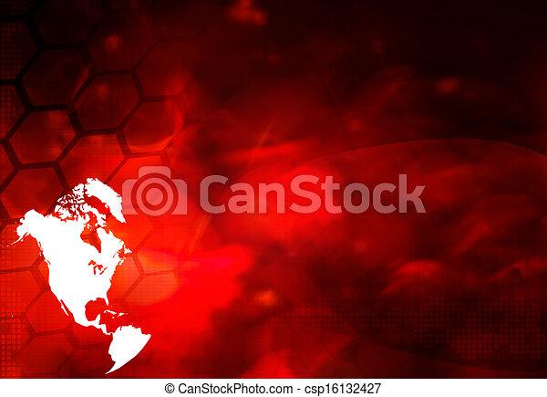 America map technology style - csp16132427