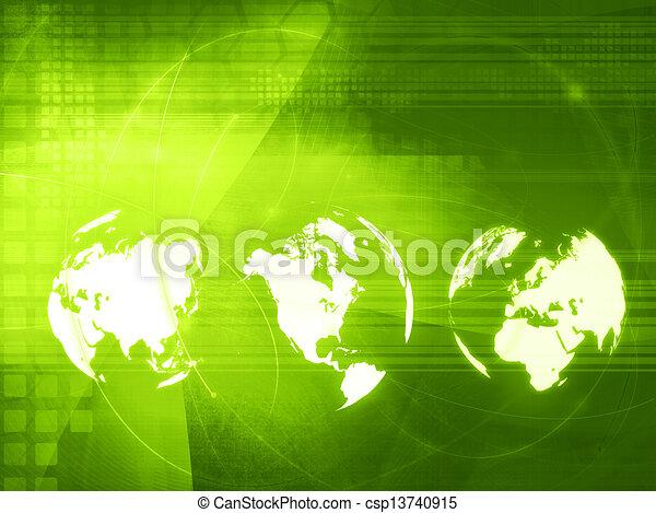 America map technology style - csp13740915