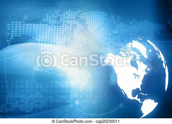 America map technology style - csp20230011