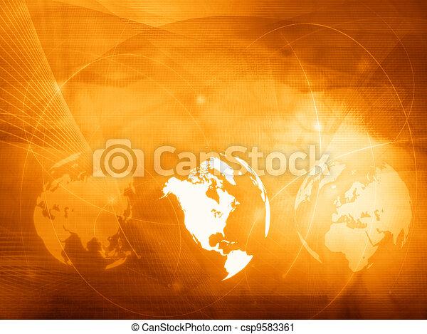 America map technology style - csp9583361