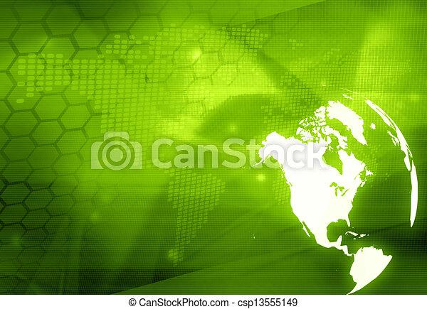 America map technology style  - csp13555149