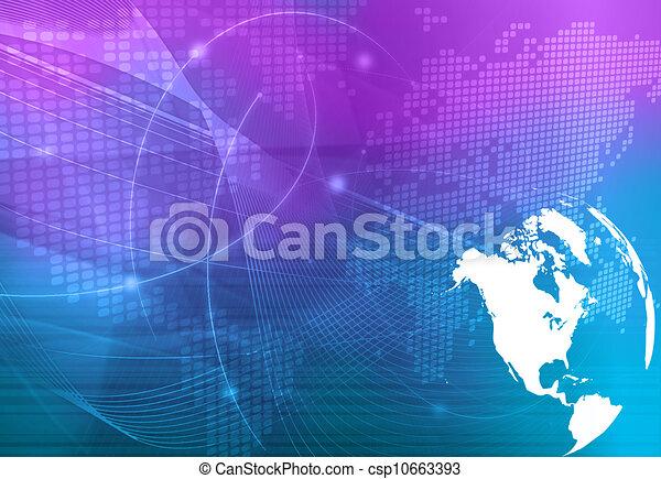 America map technology style - csp10663393