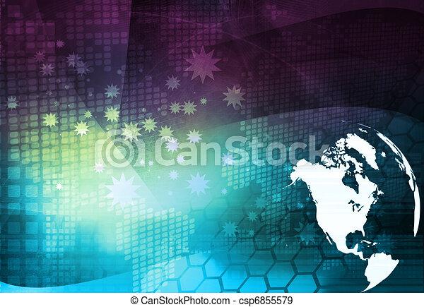 America map technology style - csp6855579