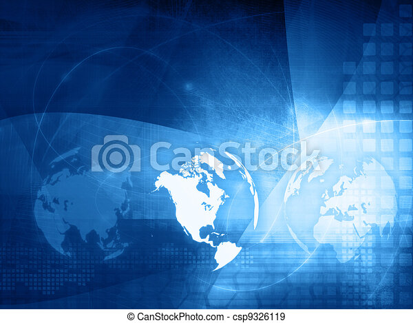 America map technology style  - csp9326119