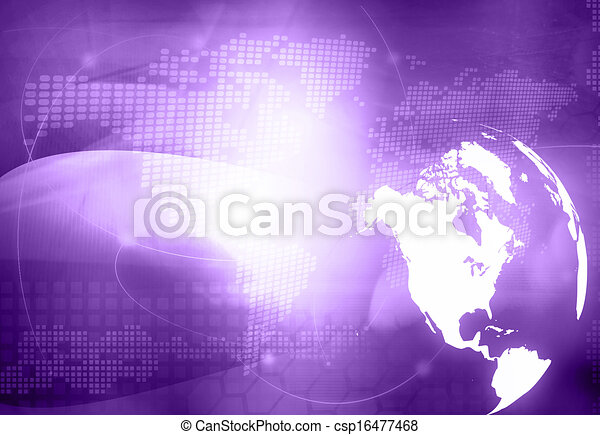 America map technology style - csp16477468