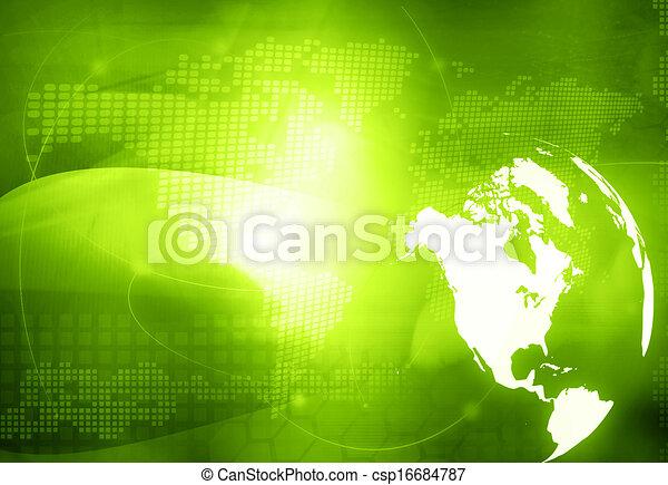 America map technology style  - csp16684787