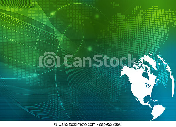America map technology style - csp9522896