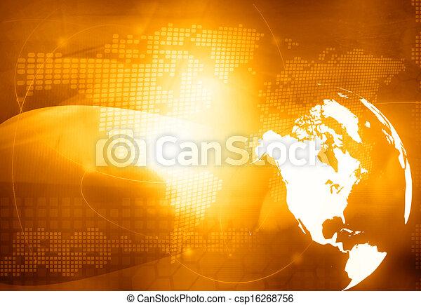 America map technology style  - csp16268756