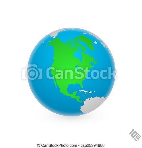 america, nord, continente - csp25394988