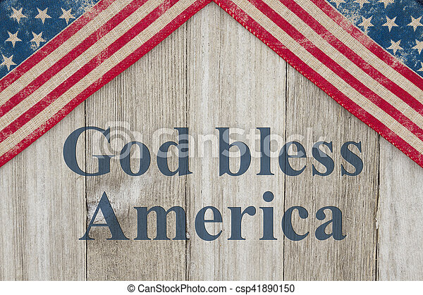 America patriotic message - csp41890150