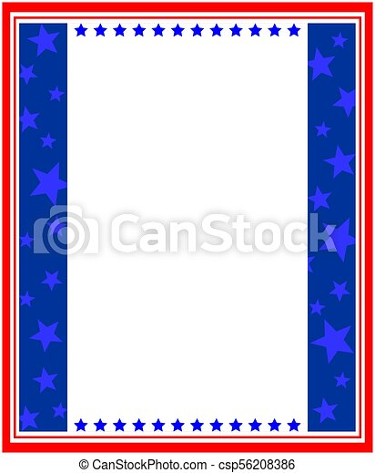 american abstract stylized flag frame border abstract american flag