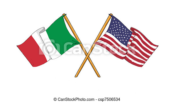 American and italian alliance and friendship - csp7506534