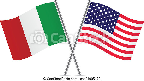 american and italian flags rh canstockphoto com waving italian flag clipart waving italian flag clipart