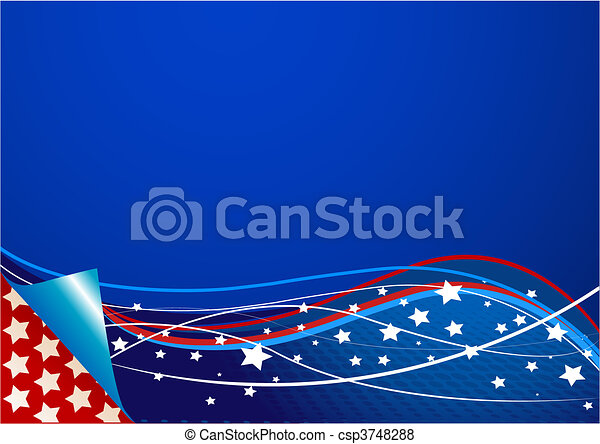 American background - csp3748288
