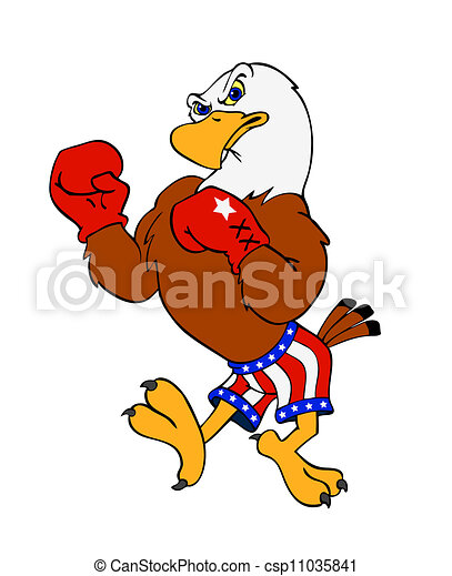american bald eagle hand drawn cartoon of a boxing eagle rh canstockphoto com free bald eagle clipart bald eagle clip art black and white