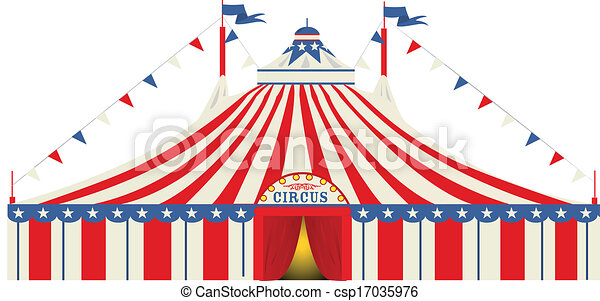 American Big Top Circus Vector  sc 1 st  Can Stock Photo & An american big top circus for you vectors illustration - Search ...