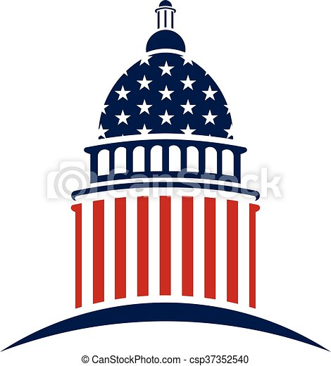 American Capitol logo. Vector graphic design - csp37352540