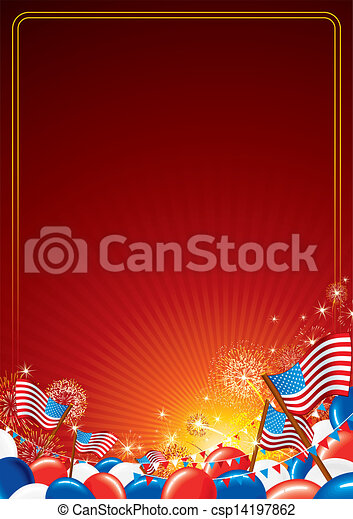 American Celebration Vector Background - csp14197862