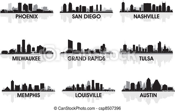 American cities  - csp8507396