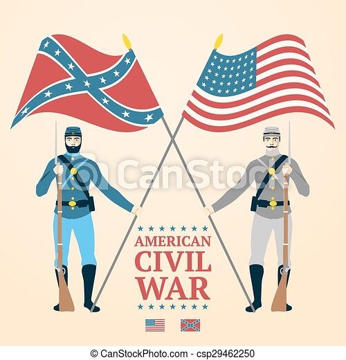 american civil war illustration southern and northern soldiers in