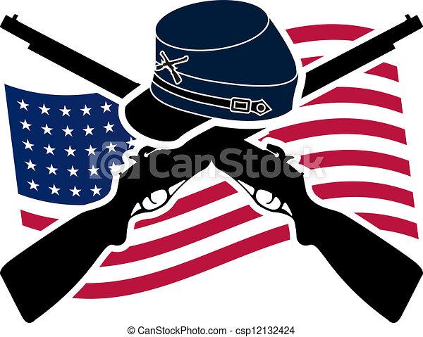 american civil war union stencil raster avriant clip art search rh canstockphoto com civil war clipart free civil war clipart black and white
