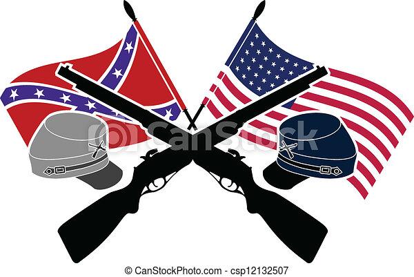 american civil war stencil second variant rh canstockphoto com civil war flags clipart civil war cannon clipart