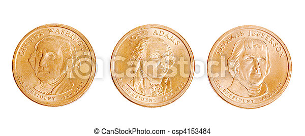 american coins with presidents - csp4153484