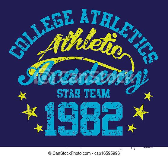 american college sports vector art - csp16595996