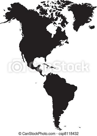 American continent - csp8118432