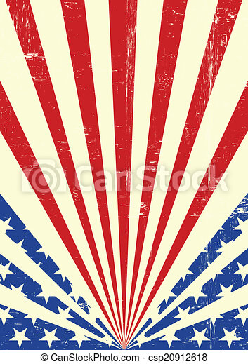 American dirty flag background - csp20912618