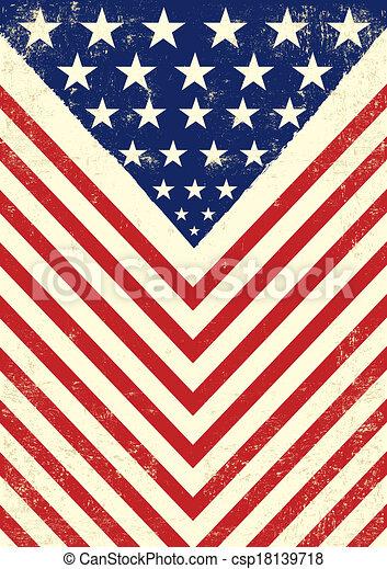 American dirty flag - csp18139718