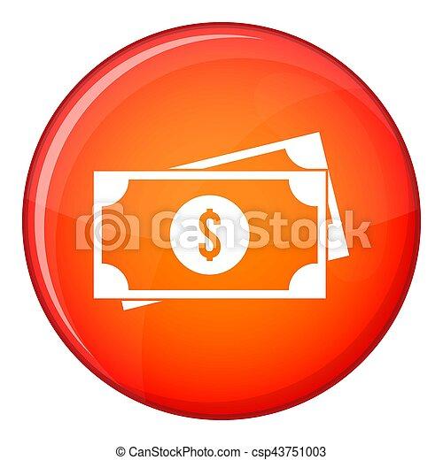 American dollars icon, flat style - csp43751003