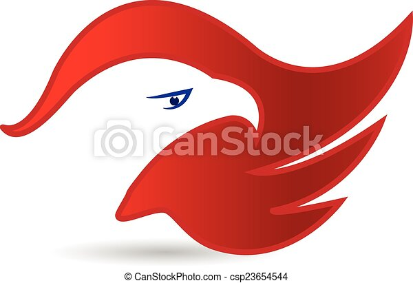 American Eagle Face Symbol Logo Vector