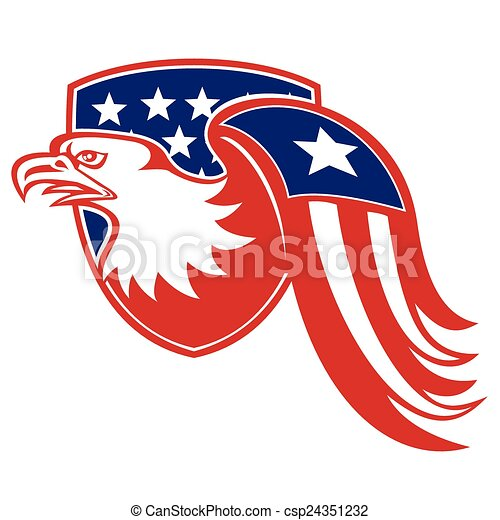 american-eagle-flag-wing - csp24351232