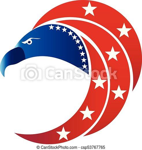 American Eagle Usa Flag Symbol Logo Vector Icon Graphic Illustration
