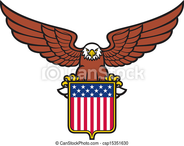 American eagle (usa shield) - csp15351630