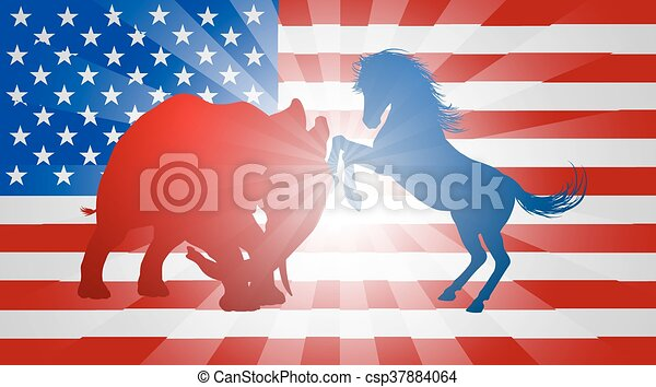 American Election Concept - csp37884064