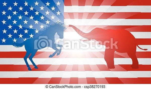 American Election Concept - csp38270193