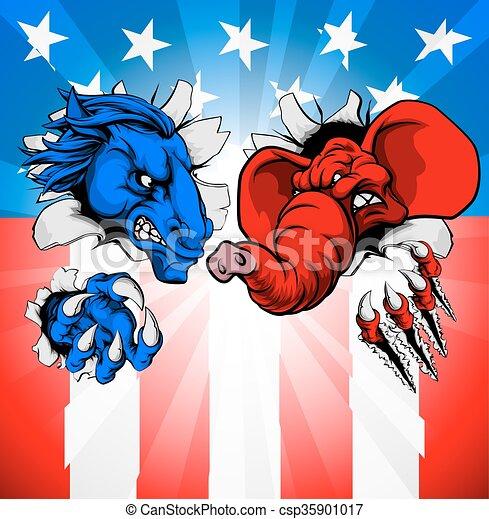 American Election Concept - csp35901017