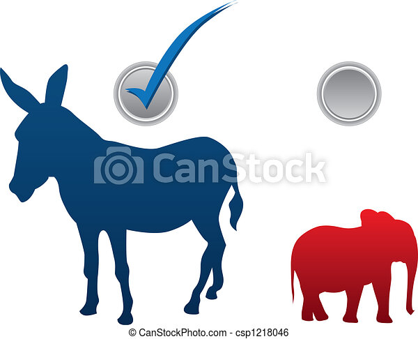 American election illustration - csp1218046