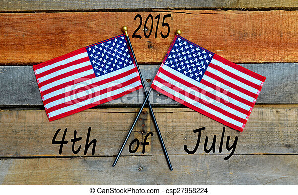 American Flag - 4th of July - csp27958224
