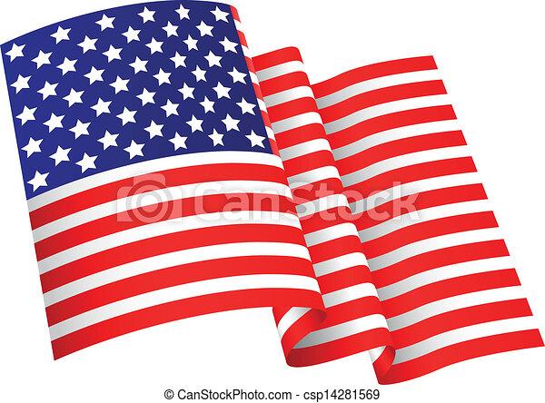 American flag background  - csp14281569