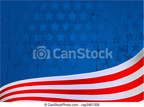 American flag background - csp3461306