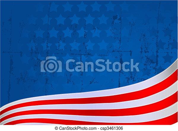 American flag background - csp3461306