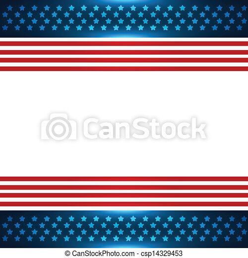 american flag background - csp14329453