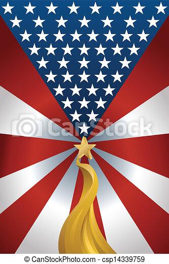 American flag background - csp14339759
