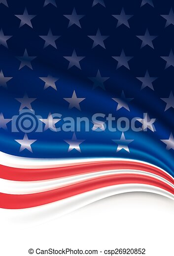 American Flag Background  - csp26920852